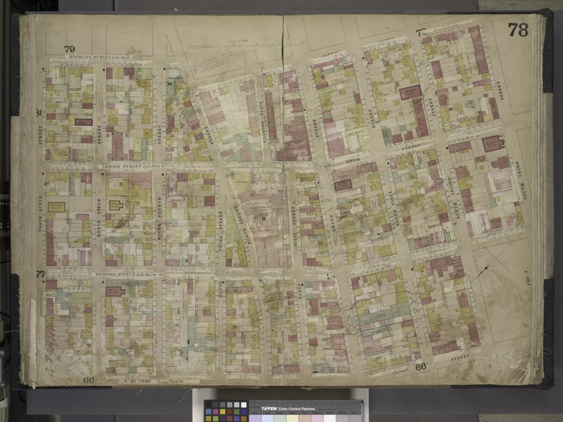 File:Brooklyn, Vol. 4, Double Page Plate No. 78; (Map bounded by Roebling St. late South St., South 3rd St., South 2nd St., South 1st St., Grand St., North 1st St; Including North 2nd St., North 3rd St., NYPL1695445.tiff