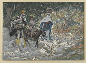 Return of the family of Jesus to Nazareth - The Return from Egypt by James Tissot