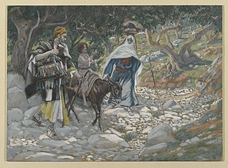Voluntary return - In The Return from Egypt by James Tissot, Jesus, Mary, and Joseph voluntarily leave Egypt to go to Nazareth because the ruler who tried to kill Jesus had died.