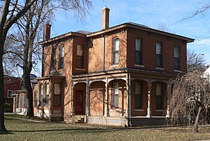 National Register of Historic Places listings in Yankton County, South Dakota - Image: Bruce Donaldson House from SE