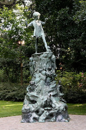 Peter Pan - Statue in Brussels, Belgium
