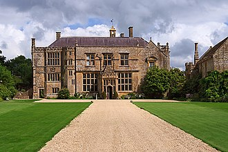 "Brympton d'Evercy - Brympton d' Evercy, Somerset, England. (taken from spot marked ""M"" on plan below)"