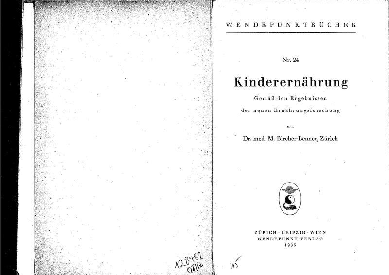 File:Buch zur Kinderernährung, Maximilian Bircher-Benner (1935).djvu