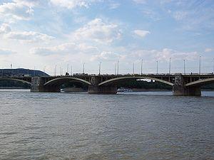 Hubert Pál Álgyay - Margaret bridge in Budapest