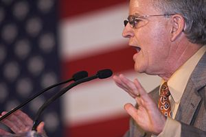 Buddy Roemer - Roemer speaking at a John McCain presidential rally in Louisiana, June 2008
