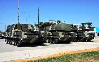 Buk missile system Russian surface-to-air missile system