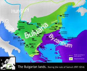 The Bulgarian Empire under Samuil.