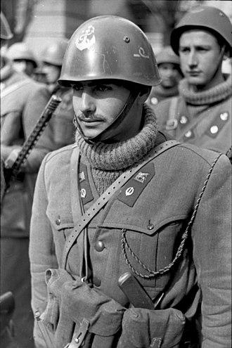 1st San Marco Regiment - March 1944. Sub-lieutenant of 3th Regiment San Marco of Italian Social Republic