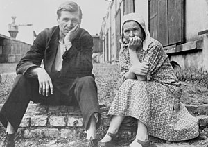 History of Germans in Russia, Ukraine and the Soviet Union - 1920, a German peasant couple from the Volga region in the refugee camp Schneidemühl, Posen-West Prussia (now Piła, Poland).