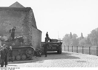 Battle of Maastricht one of the first battles in the German Campaign on the Western Front of World War II