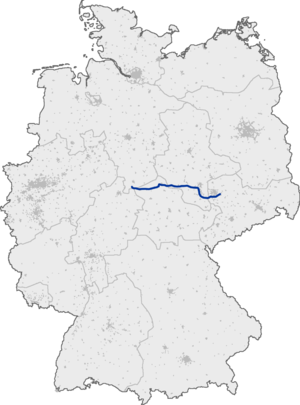 Bundesautobahn 38 - Image: Bundesautobahn 38 map
