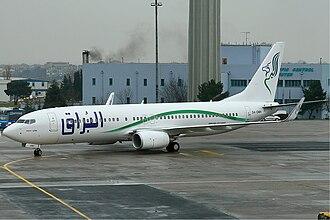 Buraq Air - Boeing 737-800 of Buraq Air in 2007.