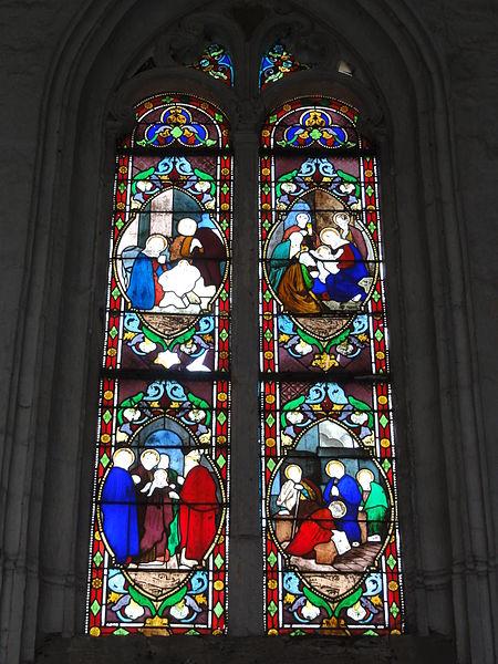 Burelles (Aisne) église, vitrail