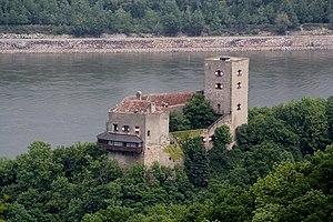 Südwestansicht der Burg Greifenstein