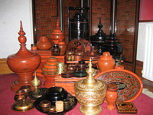 Culture of Myanmar - A collection of Burmese lacquerware from Bagan