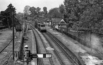 Stratford-upon-Avon and Midland Junction Railway - Byfield railway station in 1963
