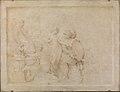 C.G. Pilo - Aeneas hindres af Venus i sin hævn mod Helena, som har søgt tilflugt ved Cybeles alter - KMS7320 - Statens Museum for Kunst.jpg