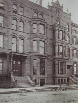 Calvert Vaux - Samuel J. Tilden House (1872), image from L'Architecture Americaine by Albert Levy