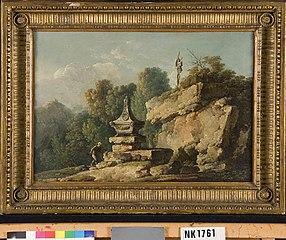 Romeins landschap met grafmonument