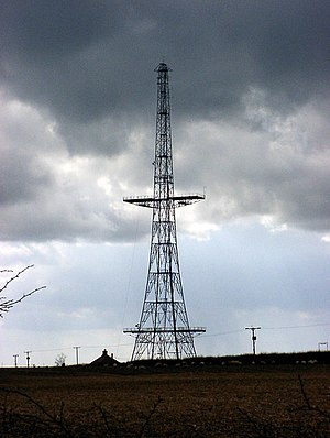 History of radar - A Chain Home transmitter antenna, part of one of the first comprehensive radar systems.