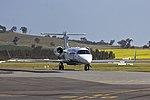 CMS Air Ambulance (VH-CXJ) Bombardier Learjet 45 taxiing at Wagga Wagga Airport.jpg