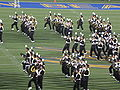 Cal Band performing at halftime at USC at Cal 2009-10-03.JPG