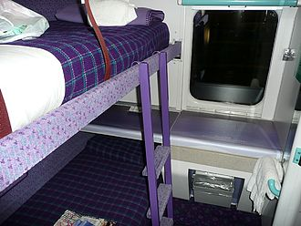Caledonian Sleeper - Sleeping cabin on the Caledonian Sleeper.