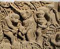 Cambogia, architrave con storie di rama, lakasmana, sugriva e valin, da vat baset, stile di baphuon, xi sec. 05.JPG