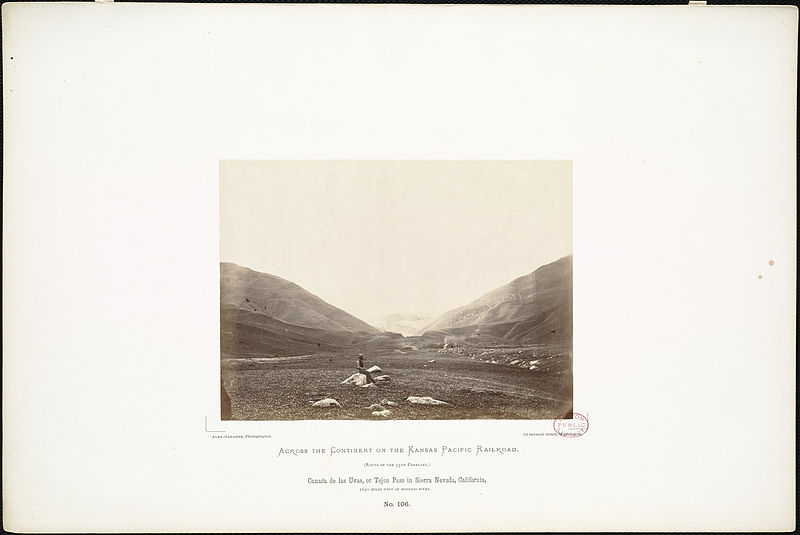 File:Canada de las Uvas, or Tejon Pass in Sierra Nevada, California, 1,690 miles west of Missouri River. (Boston Public Library).jpg