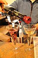 Canadian Cabernet and Vidal icewine as well as example of pouring spout.jpg