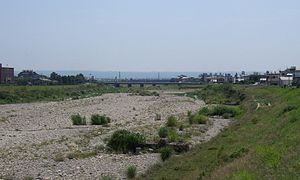 Taichung Basin - The riverbed of Caohu River in Taichung Basin.