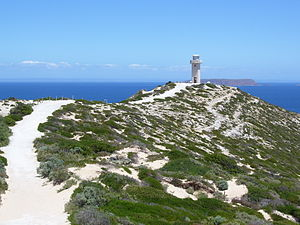 Cape Spencer (South Australia) - Path to Cape Spencer lighthouse, Innes National Park