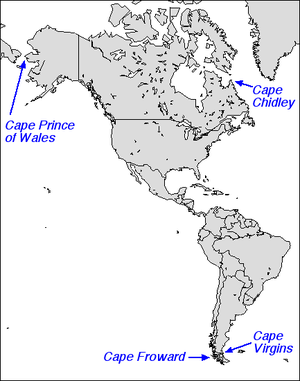 Cape Virgenes - Capes in the Americas