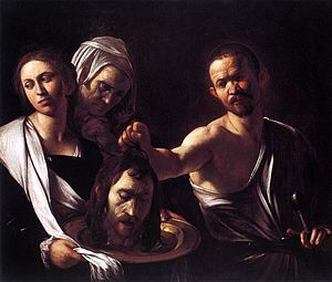 Beheading of St John the Baptist - Salome with the Head of John the Baptist by Caravaggio, National Gallery, London, c. 1607–10