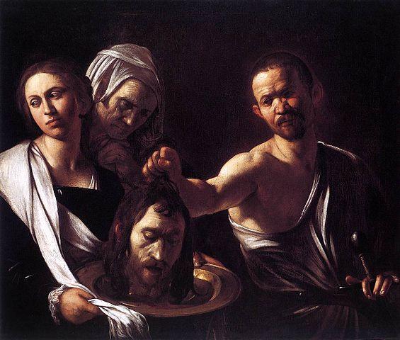 Salomé con la cabeza de Juan Bautistade Caravaggio 565px-CaravaggioSalomeLondon