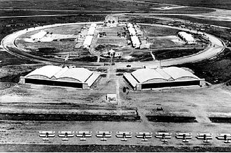 Carlstrom Field - Carlstrom Field, Florida, World War II, note the PT-17 Stearmans on the flight line and the rebuilt hangars and ground station.