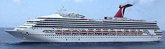 Carnival Sunshine - Image: Carnival Destiny Arriving In Cozumel (cropped)
