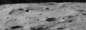 Carnot (crater) - Highly oblique view also from Lunar Orbiter 5