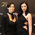 """Carrie-Anne Moss and Krysten Ritter at Peabody's """"Marvel's Jessica Jones"""" Night (cropped).jpg"""