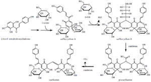 Carthamin - Image: Carthamin proposed biosynthesis