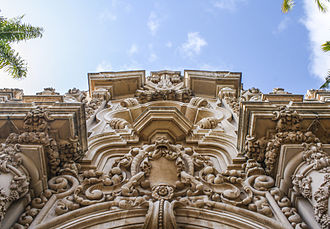 Churrigueresque - The Casa del Prado Theater, at Balboa Park.