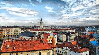 Drohobych City in Lviv Oblast, Ukraine