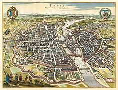 Caspar Merian, Paris wie solche Ao. 1620 im wessen gestanden, 1655 - David Rumsey.jpg
