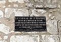 Caveau du Saint-Esprit, Provins - Plaque.JPG