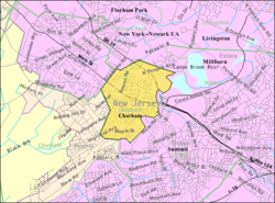 Census Bureau map of Chatham Borough, New Jersey