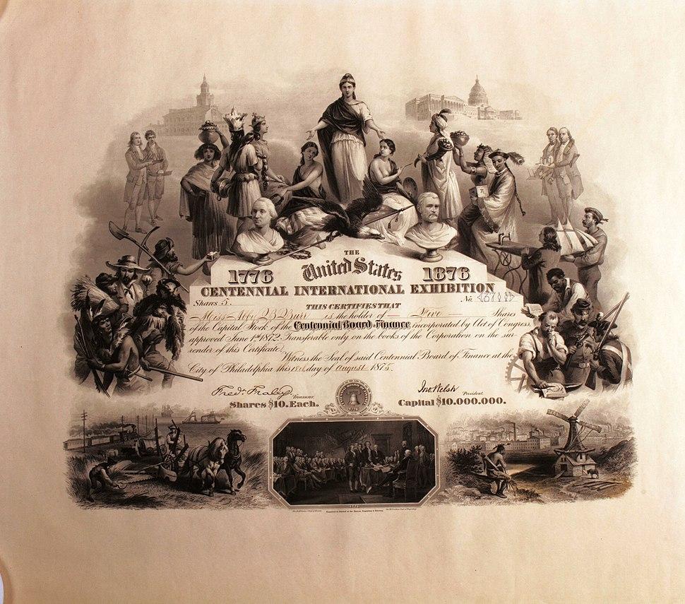 Centennial Board of Finance 1875