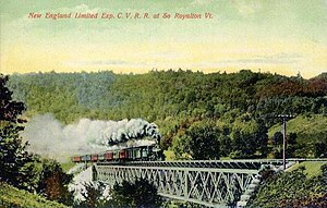 Central Vermont Railway - New England Limited Express at South Royalton in 1909