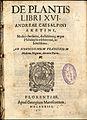 Cesalpino De Plantis Libri XVI 1583 titlepage.jpg