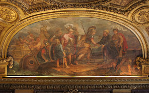 Laz people - Jason and the Argonauts arriving at Colchis. Argonautica tells the myth of their voyage to retrieve the Golden Fleece. This painting is located in the Palace of Versailles.