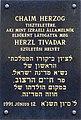 Chaim Herzog plaque Budapest07.jpg